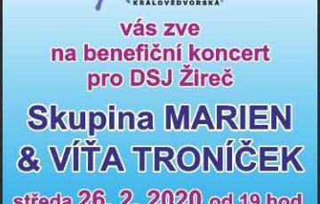 Pořádáme benefiční koncert kapely Marien