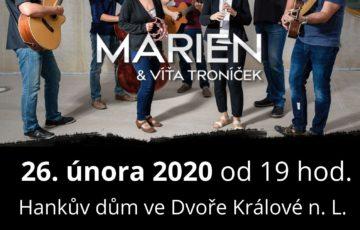 Vstupenky na benefiční koncert Marien